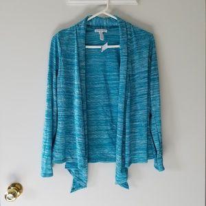 Ambiance Apparel Cardigan Women's Medium Blue New